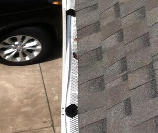 damaged gutter guards